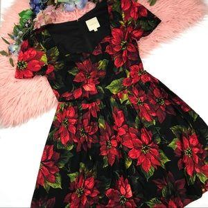 ModCloth Poinsettia Printed A Line Dress